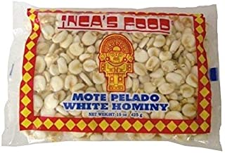 Inca's Food Mote Pelado - White Hominy 15oz (425g Single Bag) - Product of Peru