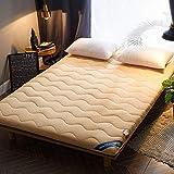 zyl Colchón de Tatami Plegable Suave tapete portátil japonés Enrollable para colchón Grueso Cojín para Dormir Doble...