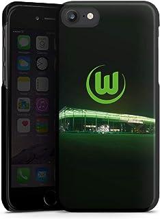 DeinDesign Hard Case kompatibel mit Apple iPhone 7 Schutzhülle schwarz Smartphone Backcover Offizielles Lizenzprodukt VFL Wolfsburg Stadion