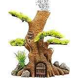 cakunmik Adornos de árbol de simulación del Tanque de Peces, Decoración de roceros, Plantas acuáticas, Resina Aquarium Interior Decoración