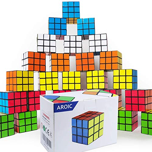 Mini Cube, Puzzle Party Toy,21pack, Eco-Friendly Material with Vivid Colors,Party Favor School Supplies Puzzle Game Set for Boy Girl Kid Child, Magic Cube Goody Bag Filler Birthday Gift