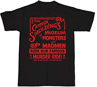 Captain Spaulding's Museum Of Monsters And Madmen T-Shirt, House Of A 1000 Corpses, Horror, Mens And Womens Horror Shirts