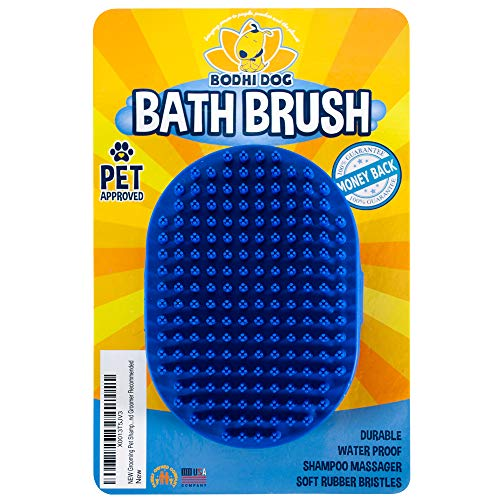 Bodhi Dog New Grooming Pet Shampoo Brush | Soothing Massage Rubber Bristles Curry Comb for Dogs...