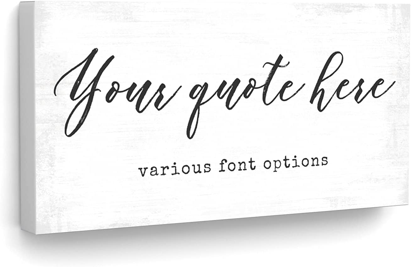 Customized Quotes on Canvas Wall Art, Personalized Motivational & Inspirational Family or Company Sayings, Welcome Home Signs with Established Date GPS Coordinates, Business Name, or Love Song Lyrics