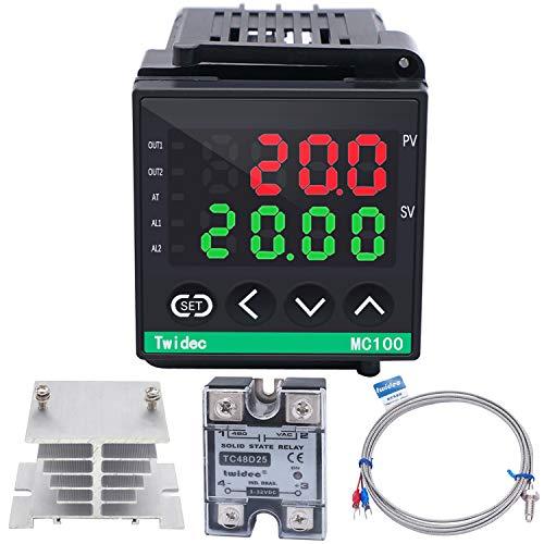 Twidec/Digital Display PID Temperature Controllers Thermostat ℉ ℃ Regulator AC 85V - 265V + 1/4