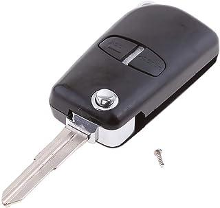 Gazechimp Étui de Clés Auto Remplacement 2 Boutons à Télécommande pour Mitsubishi ASX, Grandis, Outlander, LancerEX - Noir
