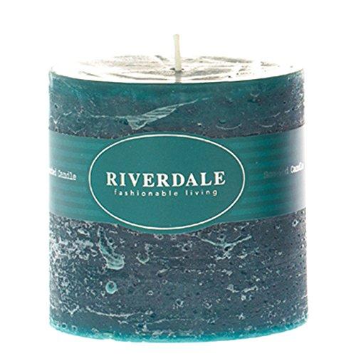 Riverdale - Kaars Pillar emerald 10x10cm