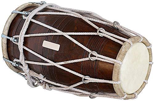 SAI Musicals, Special Dholak Drum in Profiqualität, Sheesham Holz, gepolsterte Tasche, Maulschlüssel, Dholki Musicals Instrument