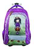 GORJUSS School Girl Cartable, 47 cm, Multicolore (Gruen Violett)