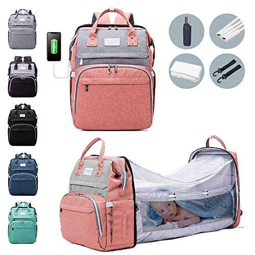 6-in-1 Diaper Bag Backpack with Changing Station