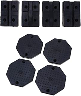 D DOLITY 8 Pieces Rubber Floor Jack Pad Adapter, Universal Frame Rail Protector, Octagon and Square