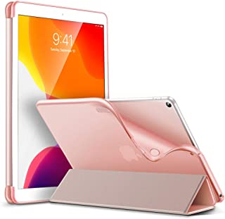 ESR for iPad 10.2 Case,Rebound Slim Smart Case for iPad 7th Generation 10.2'' 2019, Auto Sleep/Wake,Viewing/Typing Stand Case, Flexible TPU Back with Rubberized Coating Cover,Rose Gold
