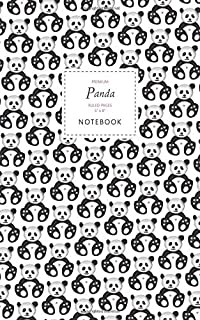 Panda Notebook - Ruled Pages - 5x8 - Premium: (White Edition) Fun notebook 96 ruled/lined pages (5x8 inches / 12.7x20.3cm ...