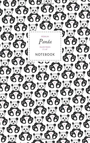Panda Notebook - Ruled Pages - 5x8 - Premium (White)