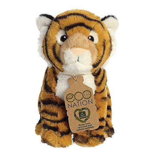 Aurora, 35000, Eco Nation Bengalischer Tiger, 22,9 cm, Plüschtier (Orange, Schwarz, Weiß)
