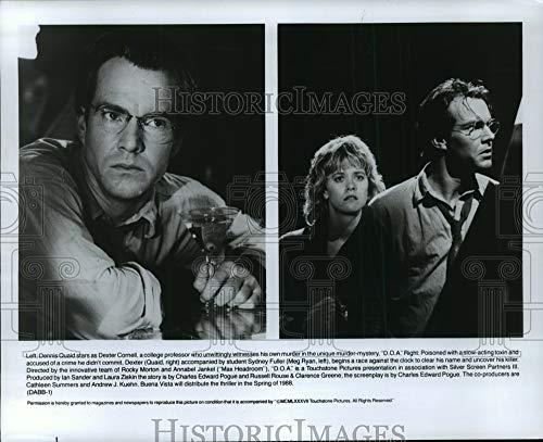 Historic Images - 1987 Press Photo Meg Ryan and Dennis Quaid Star in The Thriller D.O.A.