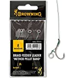 Browning #4 Braid Feeder Leader Method Pellet Band Bronze 7,3kg,16lbs 0,14mm 10cm 3Stück,