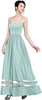 Vanansa Women's Casual Dress Evening Dress Floor Length Wedding Dress for Women Evening Gown