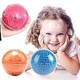 AMZYY Mini 3D Magic Maze Puzzle Ball Juegos De Rompecabezas Regalos para Niños Y Adultos Juguete De Laberinto Tridimensional para Niños Y Adultos,Orange