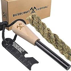 Bushcraft Survival Ferro Rod Fire Starter Kit