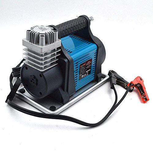 KATSU Inflador Bomba de Neumáticos de Servicio Pesado Compresor de Aire Portátil 12V 23A 150PSI 240W Flujo de Aire 40L/Min + 3M Cable Eléctrico + 3M Manguera de Aire Flexible + 3 Boquillas + Bolsa