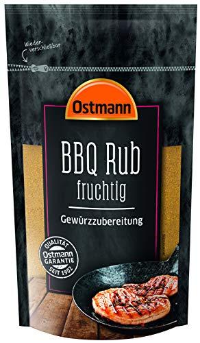 Ostmann BBQ Rub fruchtig pikant fruchtiges Aroma für Fleisch und fleischlose Gerichte, 2er Pack (2 x 250 g)