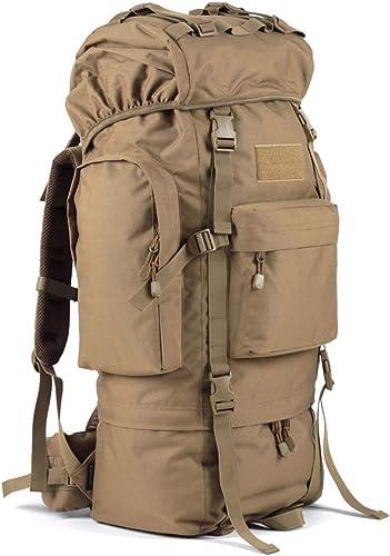 ZCCBB Sac à Dos de randonnée avec Housse de Pluie, adapté pour la randonnée, Le Camping, Les Voyages 30  23  72cm