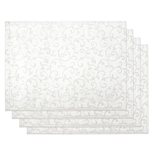 Lenox Opal Innocence Set of 4 Placemats, Wh