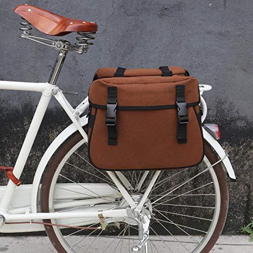 Alforja Doble Alforjas Piel Cuero Marron Miel HONEY Retro Vintage Bicicleta 3879