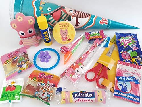 101680 gefüllte Schultüte Sorgenfresser 35cm Lotti mit Spielsachen & Schulbedarf Geschwistertüte Schulanfang