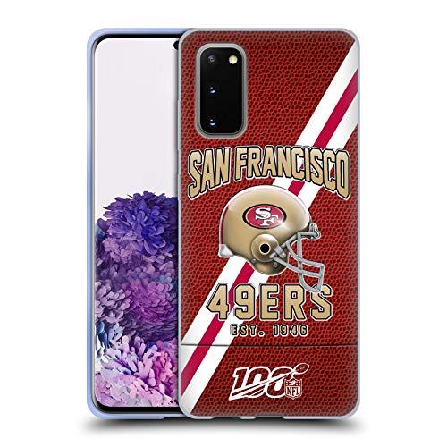 Head Case Designs Offizielle NFL Football Streifen 100ste 2019/20 San Francisco 49ers Soft Gel Handyhülle Hülle Huelle kompatibel mit Samsung Galaxy S20 / S20 5G