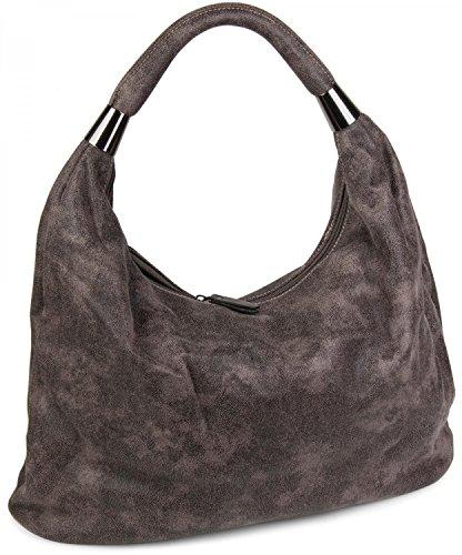 styleBREAKER Borsetta, Borsa vintage a forma di sacchetto, borsa a spalla, borsa a tracolla, borsa, da donna 02012050, colore:Beige/Nero