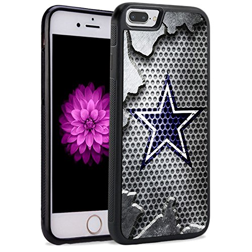 iPhone 8 Plus Case iPhone 7 Plus Cowboys Hard Case TPU Gel Rubber Shockproof Cover Drop Protection for Apple iPhone 7 Plus/iPhone 8 Plus(5.5')