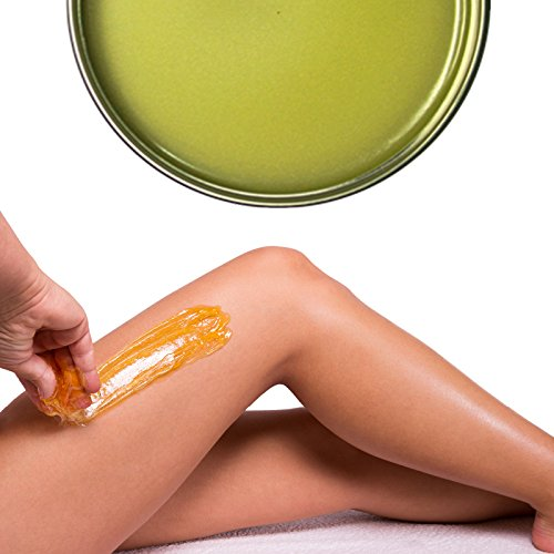 Cera Depilatoria Brasiliana in Barattolo da 400 ml Kickkick, Depilazione indolore senza strisce corpo, ascelle, gambe, bikini, rimozione peli