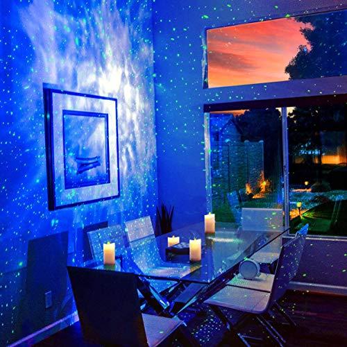 Product Image 3: BlissLights Sky Lite – Laser Star Projector w/ LED Nebula Cloud for Game Room Decor, Bedroom Night Light, or Mood Lighting Ambiance (Green, Blue)