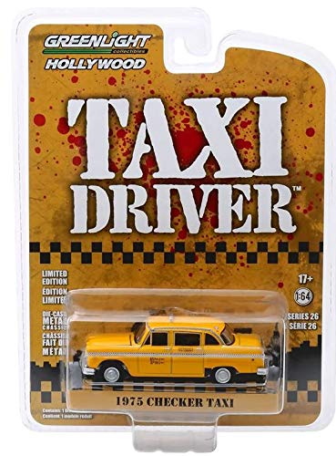 Greenlight 1975 Checker  Taxi Driver  Travis Bickles Taxi Cab 1:64