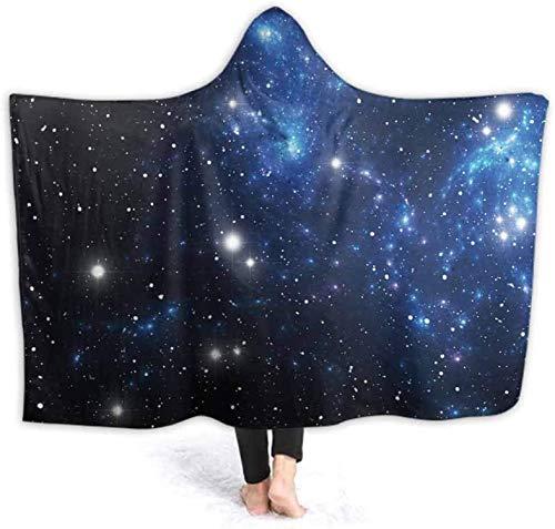 Bernice Winifred Manta con Capucha Mantas Coloridas de la Nebulosa de la Estrella Espacial Sof Decoracin del hogar Ligero para invierno130x150cm (51.2x59.1 '')