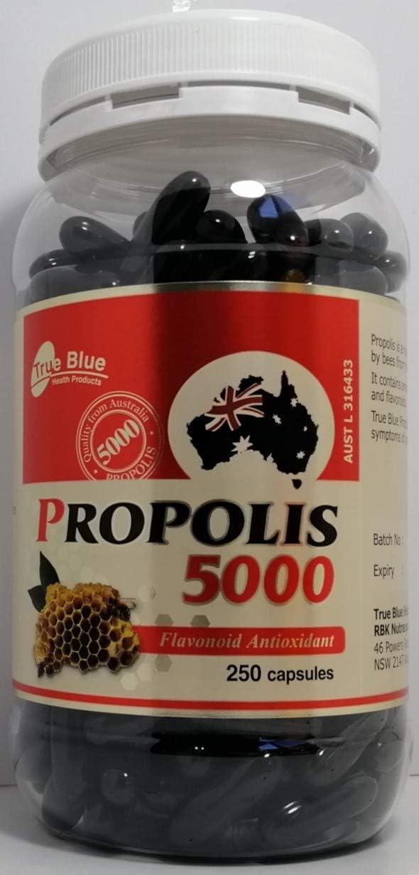True Blue Premium Dark Bee Australian 250 Propolis 5 popular 5000 Capsules Free shipping on posting reviews