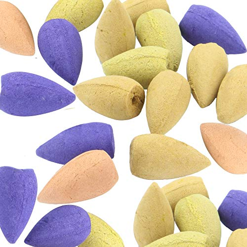 Assorted Incense Backflow Cones (200pc) | Natural Smoke Cones | Backflow Burner Cones | Aromatherapy |...