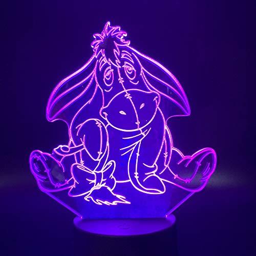 Lampe 3D Winnie l'Ourson Veilleuse pour Enfants Chambre Belle Lampe Témoin Toucher Capteur Veilleuses Creative Led Veilleuse 3D