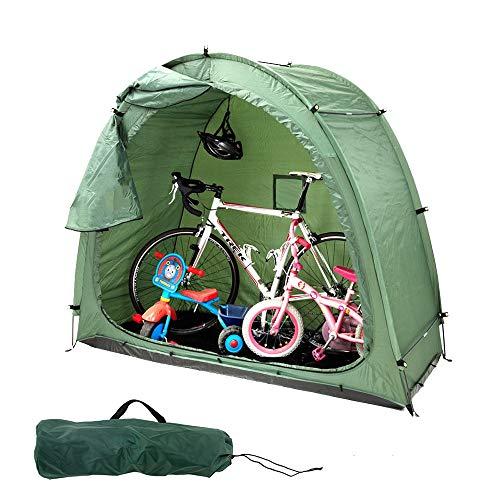 Tenda Bici, Portatile Pop Up Tende Bicicletta con Il Sacchetto di Trasporto - Impermeabile, Anti-Polvere - Copertura di immagazzinaggio Durevole Triciclo per Giardino, Prato, Patio e Cortile