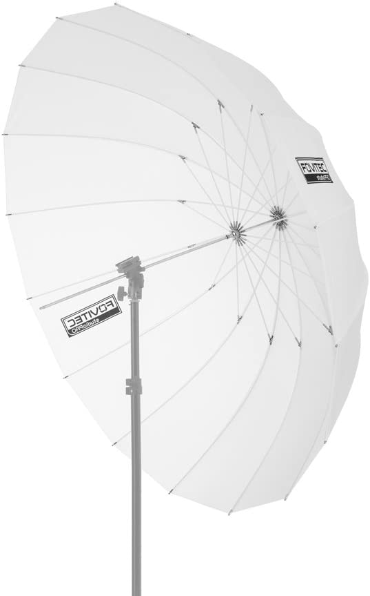 Fovitec - 1x 41 inch Translucent Photography & Video Parabolic Umbrella - [Reinforced Fiberglass][Collapsible][EZ Set-Up][Lightweight][Durable Nylon]