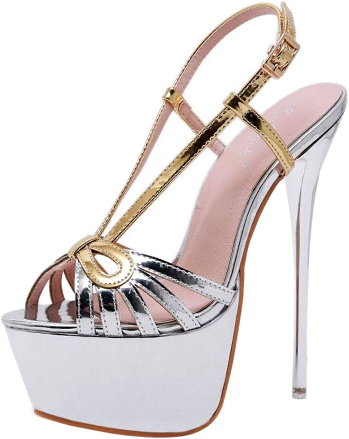 Lydee Women Fashion Summer shoes Stiletto Heels Slingback Party Sandals 17cm Height
