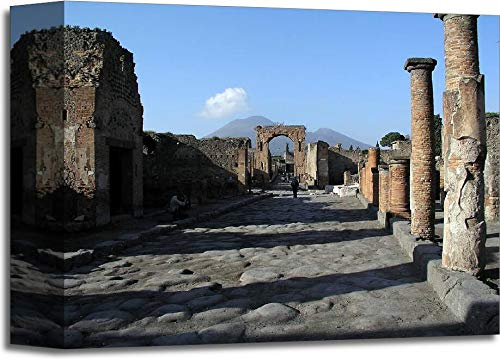 Barewalls Mt. Vesuvius and Pompeii Gallery Wrapped Canvas Art (8in. x 10in.)