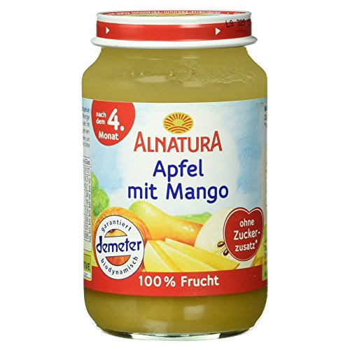 Alnatura Demeter Bio Apfel-Mango, glutenfrei, 6er Pack (6 x 190 g)