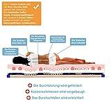 Schlummerparadies® anpassungsfähige 7-Zonen viscoelastische Viscose + HR-Kaltschaum Matratze - Made in Germany - ca. 19cm Höhe, geprüfter VISKO Kern + RG 50 - VISCO Vivid® (90x200, H2) - 3