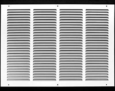 """20""""w X 14""""h Steel Return Air Grilles - Sidewall and Ceiling - HVAC Duct Cover - White [Outer Dimensions: 21.75""""w X 15.75""""h]"""