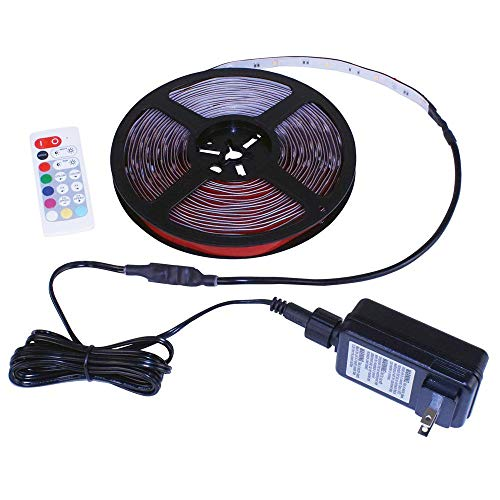 Commercial Electric 24 ft White & Multicolor (RGB+W) Indoor/Outdoor LED Tape Light w/Remote