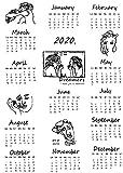 Calendarios de Pared Calendarios de Escritorio El tamaño grande 2019 y 2020 Calendario impresa tela de calendario de pared anual Planificador Estudio de Diarios Calendario de Adviento de tela colgante