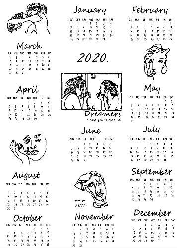 Calendarios de Pared Calendarios de Escritorio El tamaño grande 2019 y 2020...